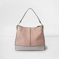 River Island Light Pink Panel Slouch Underarm Bag