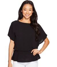 Michael Michael Kors Kimono Sleeve Top Black Women's Long Sleeve Pullover