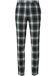 Each X Other Slim Tartan Trousers Green