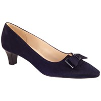 Peter Kaiser Edeltraud Bow Pointed Toe Court Shoes Navy