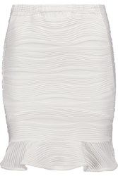 Opening Ceremony Wavy Jacquard Mini Skirt White