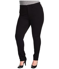 Nydj Plus Size Cindy Slim Leg Ponte Knit Pant Black Women's Casual Pants