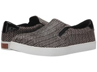 Dr. Scholl's Scout Original Collection Black White Herringbone Pony Women's Flat Shoes