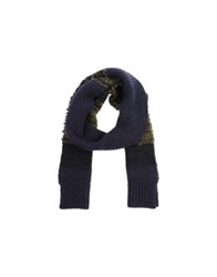 Closed Oblong Scarves Dark Blue