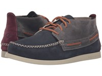Sperry A O Wedge Chukka Suede Dark Grey Men's Lace Up Casual Shoes Gray