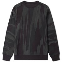 Mhi Maharishi Reversible Camo Crew Sweat Blue