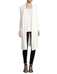 B Collection By Bobeau Open Front Duster Cardigan White