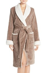 Women's Nordstrom Cable Plush Robe Beige Goat