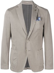 Paoloni Single Breasted Blazer Neutrals