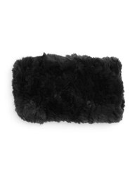 Surell Rabbit Fur Headband Black