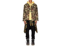Adaptation Embroidered Camouflage Stretch Cotton Jacket Dk. Green