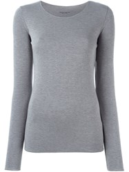 Roberto Collina Long Sleeve Jersey T Shirt Grey