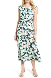 Chaus Rainforest Knot Front Maxi Dress 449 Marine Salt