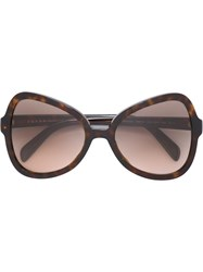 Prada Cat Eye Frame Sunglasses Brown