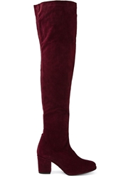 Opening Ceremony Thigh High Suede Boots Pink And Purple