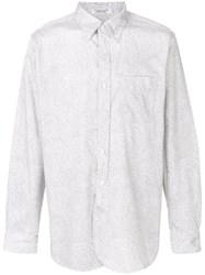 Engineered Garments Abstract Branches Pattern Shirt White