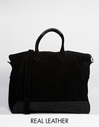 Urbancode Leather Weekend Bag Black