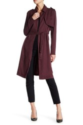 Fire Belted Trench Red