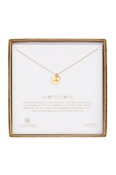Dogeared 14K Gold Plated Sterling Silver Mom Bridal Necklace Metallic