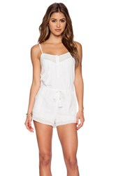 Twelfth St. By Cynthia Vincent Lace Trimmed Romper White