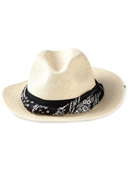 Golden Goose Deluxe Brand Panama Hat With Detatchable Scarf