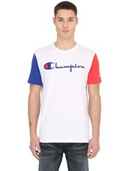 Champion Color Block Cotton Jersey T Shirt