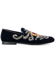 Jimmy Choo Sloane Slippers Blue