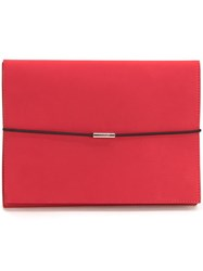 Maison Martin Margiela Mm6 Flat Clutch Red