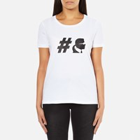 Karl Lagerfeld Womens Teamkarl Crew Neck T Shirt White