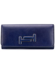 Tod's Double T Wallet Blue