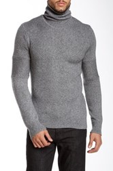 Rogue Turtleneck Wool Blend Sweater Gray