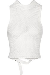 3.1 Phillip Lim Crocheted Cotton Blend Top Off White