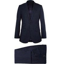 Thom Sweeney Navy Weighouse Wool Suit Navy