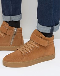 Kg By Kurt Geiger Anderson Suede Trainers Tan