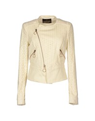 Roberto Cavalli Coats And Jackets Jackets Women Ivory