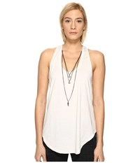 The Kooples Mix Cotton And Charms Tank Top Ecru