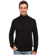 Nautica 9 Gauge 1 4 Zip Sweater True Black Men's Sweater