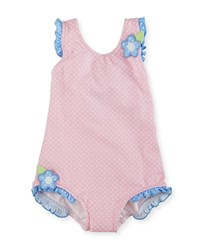 Florence Eiseman Polka Dot One Piece Swimsuit Pink Size 6 24 Months