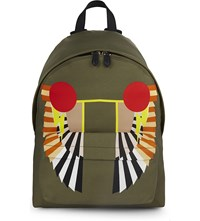 Givenchy Iconic Print Nylon Backpack Military Green