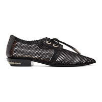 Toga Pulla Black Mesh Lace Up Loafers