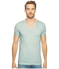 Boss Orange Toulouse Fashion Fit Garment Dyed Jersey V Neck Tee Turquoise Aqua Men's Short Sleeve Pullover Blue