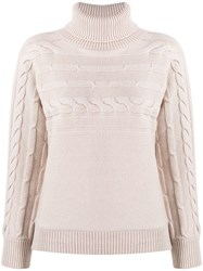 Peserico Cable Knit Jumper Neutrals
