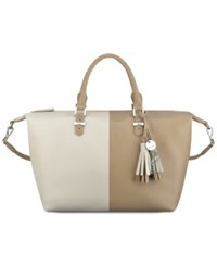 Nine West Face Forward Satchel Sandstone Milk Natural Multi