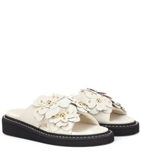 See By Chloe Embellished Leather Sandals White