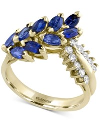 Effy Final Call Sapphire 2 Ct. T.W. And Diamond 1 4 Ct. T.W. Statement Ring In 14K Gold Yellow Gold