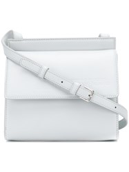 Calvin Klein 205W39nyc Embossed Flap Cross Body Bag White