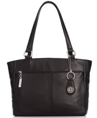 Giani Bernini Handbag Nappa Classic Leather Tote Black