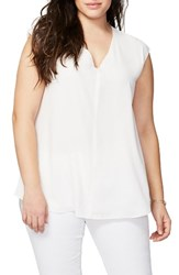 Rachel Roy Plus Size Women's Sydney High Low Top White