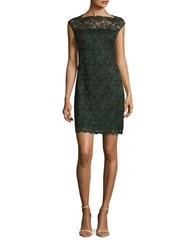Design Lab Lord And Taylor Lace Sheath Dress Green