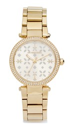 Michael Kors Mini Parker Watch Gold Floral